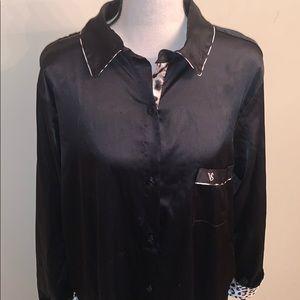 NWOT  Victoria's Secret Button Up Long Sleep Shirt